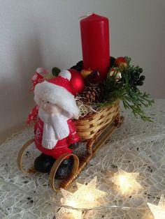 Vianočný svietnik sánky chlapcek / anad333 - SAShE.sk - Handmade Dekorácie