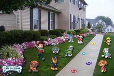 Paw Patrol Digital Lawn Decorations- Paw Patrol  Birthday Banner- Paw Patrol  Birthday Party - Paw Patrol Birthday