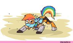 mlp gif,my little pony,Мой маленький пони,фэндомы,Rainbow Dash,Рэйнбоу Дэш,mane 6,mlp crossover,Ponywatch
