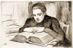 Edelfelt, Albert Lukeva nainen 1899 Kansallisgalleria - Taidekokoelmat