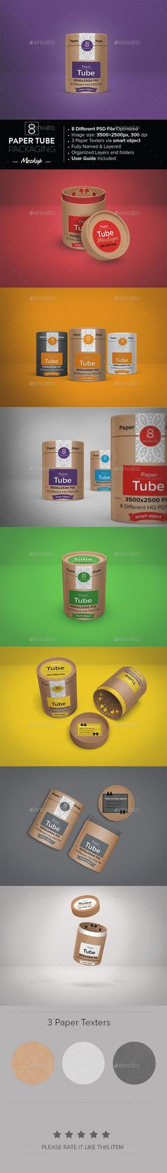 Paper Tube Packaging Mockup | Download: http://graphicriver.net/item/paper-tube-packaging-mockup/10068480?ref=ksioks