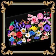 Ceramic Tray with Flowers & Butterflies from Paradis Maison