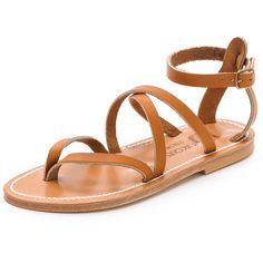 K. Jacques Epicure Sandals (320920 IQD) ❤ liked on Polyvore featuring shoes, sandals, flat sandal, pul natural, flat leather sandals, toe post sandals, flat sandals, toe thong sandals and flat shoes