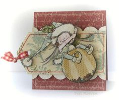 Adorable—Little Elf Christmas card—great colors❣ (Penny Black stamps)
