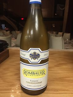 Rombauer Chardonnay, Carneros ('13) $89 - Creamy textured with vanilla textured oak and vibrant peach, nectarine, honeydew, and apricot
