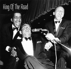 Rat Pack - Sammy, Dean and Frank in one of their many gigs in Vegas - Dean King of Cool - web photo - undated - MReno