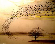Wind and Wuthering - Genesis Album Cover - Inspiration for some painted furniture.