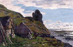 The Athenaeum - Cabins at Sainte-Adresse (Claude Oscar Monet - )