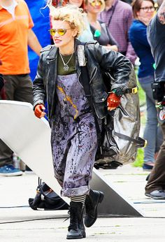 Kate McKinnon on the set of Ghostbusters (x)