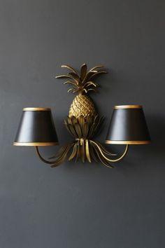 Gold Pineapple Wall Light