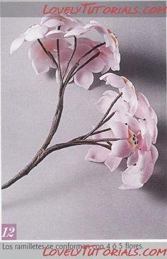 Асклепиас, ваточник, ластовень -Gumpaste (fondant, polymer clay) Asclepias flower making tutorials