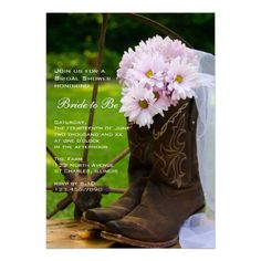 Rustic Daisies Country Bridal Shower Invitation. Ideas for hollys bridal shower