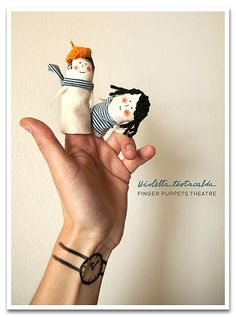 Hand stitched and painted finger puppets; Diy For Kids, Crafts For Kids, Kids Hands, Hand Puppets, Craft Activities For Kids, Soft Dolls, Softies, Plushies, Fabric Dolls