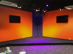 Youth room stage - lose the orange & purple, but otherwise -kinda cool.