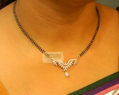 Nallapusalu / Ruby Emerald chains - Gold Jewellery Nallapusalu / Ruby Emerald chains at USD And GBP Gold Earrings Designs, Gold Jewellery Design, Pendant Jewelry, Beaded Jewelry, Pendant Necklace, Diamond Mangalsutra, Mangalsutra Bracelet, Clean Gold Jewelry, Stylish Jewelry