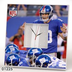 New York Giants Team Wall CLOCK Mirror Frame NFL NFC AFC Collection Fan Gift #IKEA #NewYorkGiants