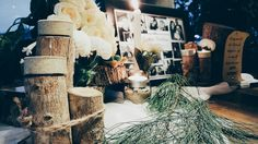 Rustic romantic table decoration centerpiece • Divine project bali