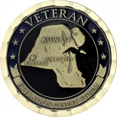 Operation Desert Storm Veteran Coin