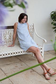 fabrics-store.com simple linen a-line dress