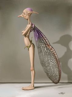 Fairy with dragon fly wings. He's so wonderfully ugly :-)