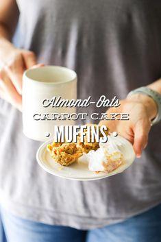 Almond-Oats Carrot Cake Muffins