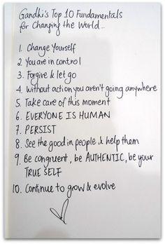Gandhi..listado para cambiar el mundo...haz tu aporte!!