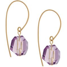 Uzerai Edits amethyst earrings ($333) ❤ liked on Polyvore featuring jewelry, earrings, metallic, amethyst earrings, facet jewelry, amethyst jewelry, polish jewelry and amethyst jewellery