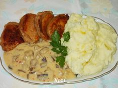 Pork Roast, Mashed Potatoes, Favorite Recipes, Meals, Chicken, Ethnic Recipes, Bors, Red Peppers, Whipped Potatoes
