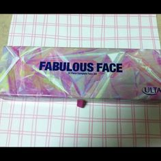 Ulta Fabulous Face This 33 piece complete face set comes in a 2 tiered case with a mirror.  It has 27 eyeshadows, 2 blushes, 1 highlighter, 3 lip glosses, and an application brush!!  Would make a wonderful present!! Ulta Accessories