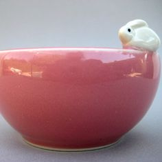 White Bunny Pink Petit Bowl  Hand sculpted by alinahayesceramics, $23.00