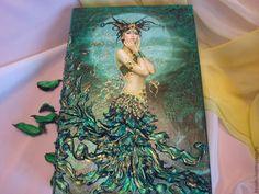 Купить Шкатулка Магия Луны - зеленый, шкатулка деревянная, шкатулка-книга, оригинальный подарок, фея