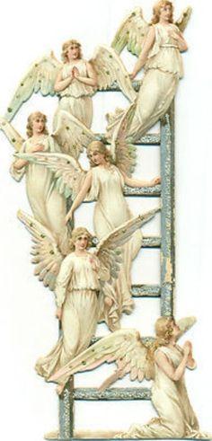 Angels on ladder