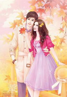 Love Cartoon Couple, Cute Couple Art, Anime Love Couple, Cute Anime Couples, Paar Illustration, Couple Illustration, Cute Love Images, Lovely Girl Image, Cute Girl Wallpaper