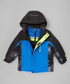 00b26c949c4ea ZeroXposur Blue & Yellow Color-Block 3-in-1 Systems Jacket - Kids & Tween