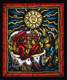stained glass by Peter McGrain
