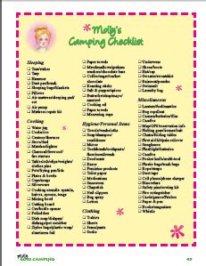 Free Camping Checklist