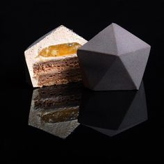 Ukrainian patisserie chef Dinara Kasko has drawn on her background in architecture in her cooking. Kasko's complex, geometric desserts all have distinct architectural characteristics, which she achieves by using silicone moulds modelled with. Dessert Design, Food Design, Patisserie Chef, Geometric Cake, Decoration Patisserie, Chocolate Sponge Cake, Chocolate Box, Individual Cakes, No Bake Desserts