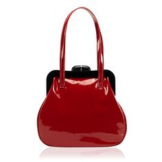 LuLu Guiness, Red Patent Leather Pollyanna. Me want so bad- a frame shoulder bag!  £325