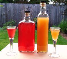 Rhubarb-Orange Gin 2 c. chopped Rhubarb (I used frozen, but fresh would be fine) 2 TB Orange Liqueur (triple sec, Cointreau, etc.) Zest of One Orange 2 c. Gin c. Rhubarb Cocktail, Rhubarb Gin, Rhubarb Syrup, Homemade Alcohol, Homemade Liquor, Fun Drinks, Yummy Drinks, Alcoholic Drinks, Beverages