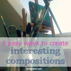 Art theory doesn't have to be difficult or boring, and it creates a good grounding for harmonious paintings. Here are 3 ways to use specific compositions.