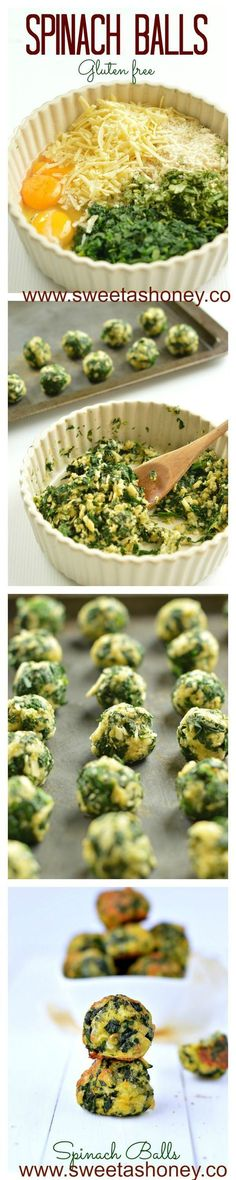 Spinach Balls   Best Spinach appetizers   Great Spinach clean eating recipes for summer. Great Christmas Appetizer or holiday appetizer