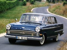 1959–64 Opel Kapitän (P2) My father drove this car when we lived in Bad Homburg in the early sixties.