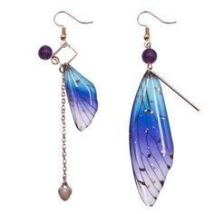 Blue Orange, Pink Purple, Yellow, Chain Earrings, Statement Earrings, Ankle Tattoos For Women Anklet, Butterfly Wings, Flakes, Dangles