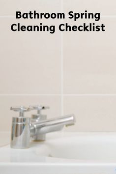 Tackle the bathroom for a thorough cleaning this spring with this simple checklist, brought to you by Bounty,that makes sure you get all the dirt and grime without missing a spot!