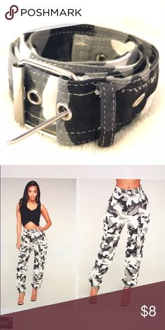 6d69f8f9b46fd Fashion Nova Camouflage Belt I got this belt that came with the camouflage  pants and I