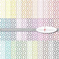 Nautical Digital Scrapbook Paper Pack  --  Rainbow Nautical Rope White