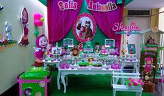 Masha and the bear in Bear Birthday, 4th Birthday, Birthday Cake, Birthday Parties, Masha And The Bear, Bear Party, Hollywood Party, Ideas Para Fiestas, Birthday Decorations