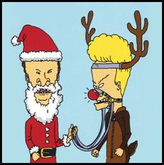Beavis and Butthead say Merry Christmas, turds