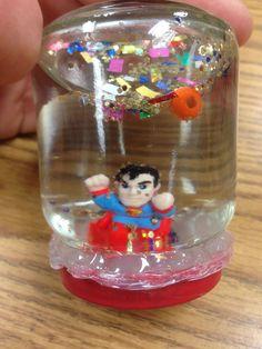 Snow globe superman style...