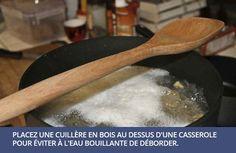 conseil cuisine - éviter que l'eau déborde